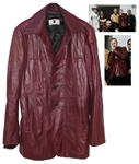 Garry Beers of INXS Stage-Worn Red Leather Jacket -- Worn During X Tour in 91-92 -- With LOA From Garry Beers