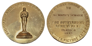 Incredibly Rare Oscar Medal for Still Photography Awarded to A.L. Schafer for 1941-1942