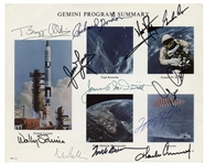 Gemini Astronaut-Signed 10 x 8 Photo Collage -- Signed by Neil Armstrong & 10 More Astronauts