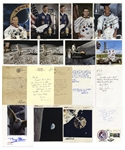 Lot of 20 NASA Items Signed by 10 Astronauts -- Buzz Aldrin, Pete Conrad & 7 More