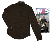 INXS Bass Player Garry Beers Stage-Worn Gaultier Star Print Shirt -- With LOA From Garry Beers
