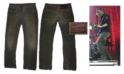 INXS Pants Stage-Worn by Bass Player Garry Beers -- With LOA From Garry Beers