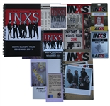 INXS Tour Itineraries & All Access Passes From 2006, 2007 & 2011, Personally Owned by Garry Beers -- With LOA From Garry Beers