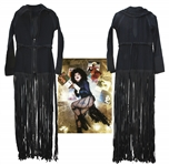 Lady Gaga Black-Fringed Dress Worn During 2014 Fashion Shoot for Yahoo Style -- With LOA & Photo From Designer