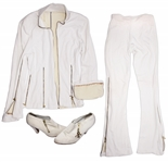 Prince Worn Jacket & Pants Set -- With Shoes Featuring His Love Symbol