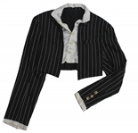Prince Screen Worn Pinstripe Bolero Jacket From His SLAVE Statement Performance