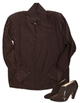 Prince Worn Chocolate Brown Shirt & Shoes With His Love Symbol
