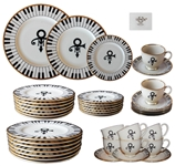 40 Piece Set of China From Princes Wedding -- Featuring Princes Love Symbol