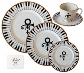 5 Piece Set of China From Princes Wedding -- Featuring Princes Love Symbol