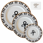 3 Piece Set of China From Princes Wedding -- Featuring Princes Love Symbol