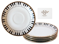 5 Piece Set of China From Princes Wedding -- Featuring Piano Keys Design