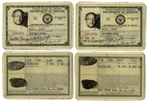 Lot of 2 Redd Foxx Department of Defense Signed ID Cards -- Noncombatants Certificate of Identity