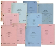 Lot of 10 Sanford & Son Scripts Owned & Annotated by Redd Foxx -- From All 6 Seasons -- From Redd Foxx Estate
