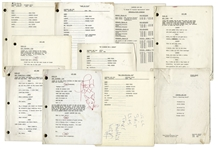 Lot of 10 Sanford & Son Scripts Owned & Annotated by Redd Foxx -- With Drawings of a Red Fox & Popeye -- From Redd Foxx Estate