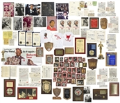 Large Assorted Lot From Redd Foxx Estate -- Posters, Shirts, Bob Hope Pendant, Love Letter, Emmy Ticket, Signed Documents & Contracts, Awards, ID Badges, Mike Tyson Signed Photo & More