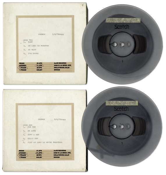 Prince Mastering Reference Tapes for His 1978 Debut Album, ''For You''