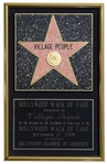Village Peoples Hollywood Walk of Fame Plaque