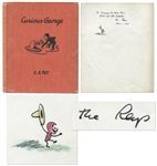 Curious George First Edition Signed by The Reys With Original Ink Drawing of Curious George -- First Book From 1941