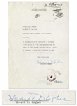 Howard Hughes Letter Signed From 1953 -- Also With Telegram From Hughes CEO Noah Dietrich