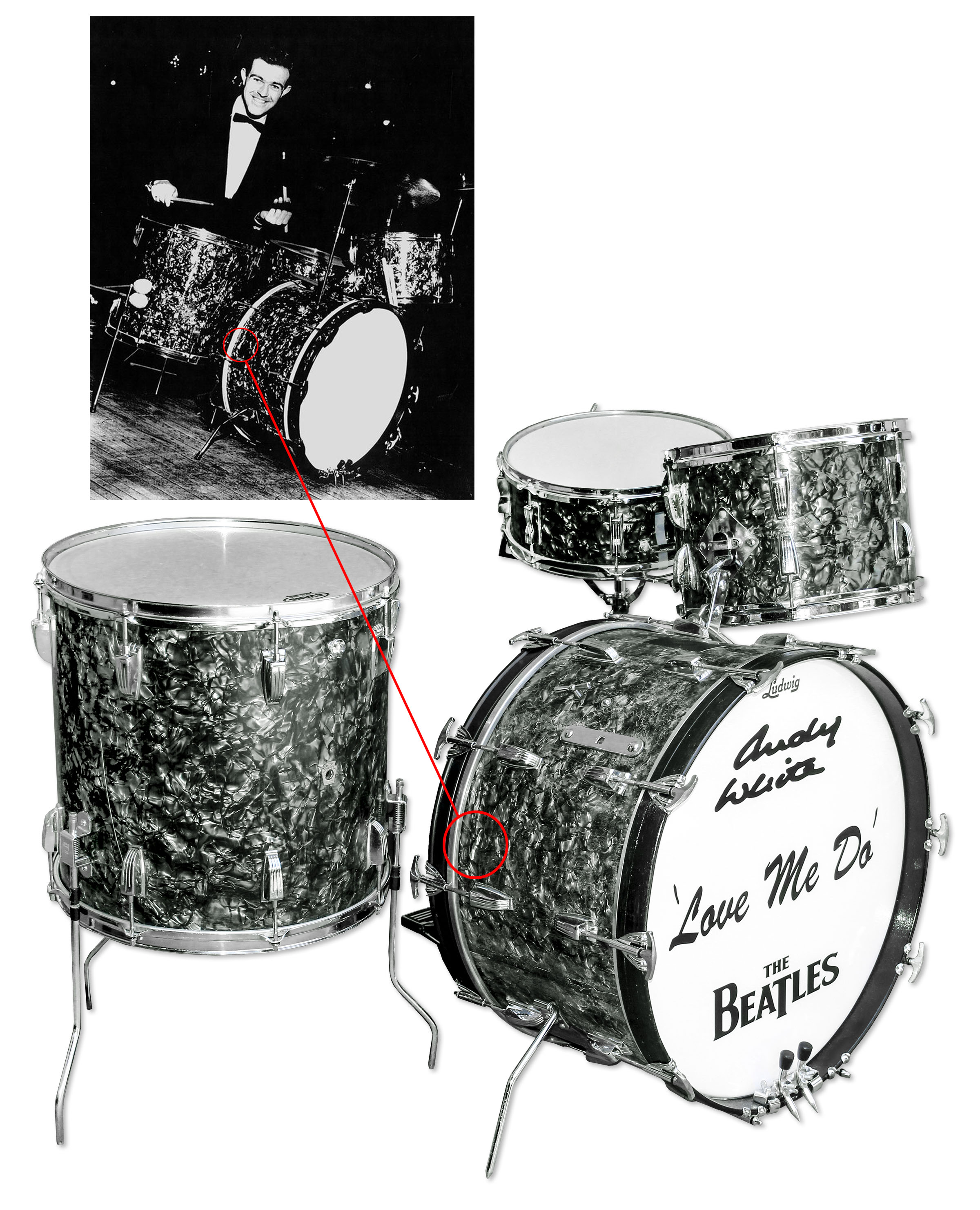 Drum Kit Used To Record The Beatles Very First Single Love Me Do