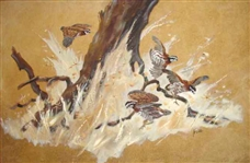 Run For Cover Painting by Texas Artist Betty Gene Haile