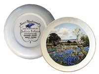 Porforio Salinas Bluebonnet Plate by Dashby Kilns