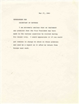 Important Memo From JFK, Expressing Concern Over Promises Made by Vice President Johnson -- ...I am extremely anxious that we implement any promises that the Vice President may have made...