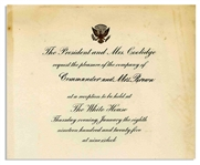 President Coolidge 1925 Official White House Invitation