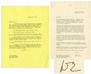 Dwight D. Eisenhower Typed Letter Signed as President -- ...My arm has been ailing a bit, but possibly by the time you come to Washington...I can play a round of golf with you...