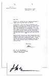 Dwight Eisenhower Funny Letter Signed Immediately Following His Presidency Regarding Retirement -- ...I hope to become one of the minor partners in a cattle raising venture...
