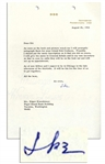 Dwight Eisenhower Typed Letter Signed -- ...It will be fun for the four of us [brothers] to get together... -- 1966