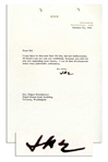 Dwight Eisenhower Typed Letter Signed -- 1966