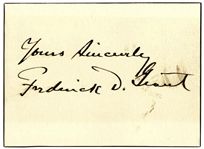 Signature of General Frederick Dent Grant, Son of President Ulysses S. Grant