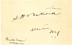 Signature of Grants Shadow Captain Samuel H. Beckwith -- ...He carried with fidelity the secrets of the nation...