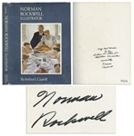 Norman Rockwell Signed Copy of His Biography, Illustrator -- Inscribed to fellow Vermonters