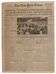 FDRs Funeral Covered in 16 April 1945 New York Times -- America Mourns as the War in Europe Draws to a Close