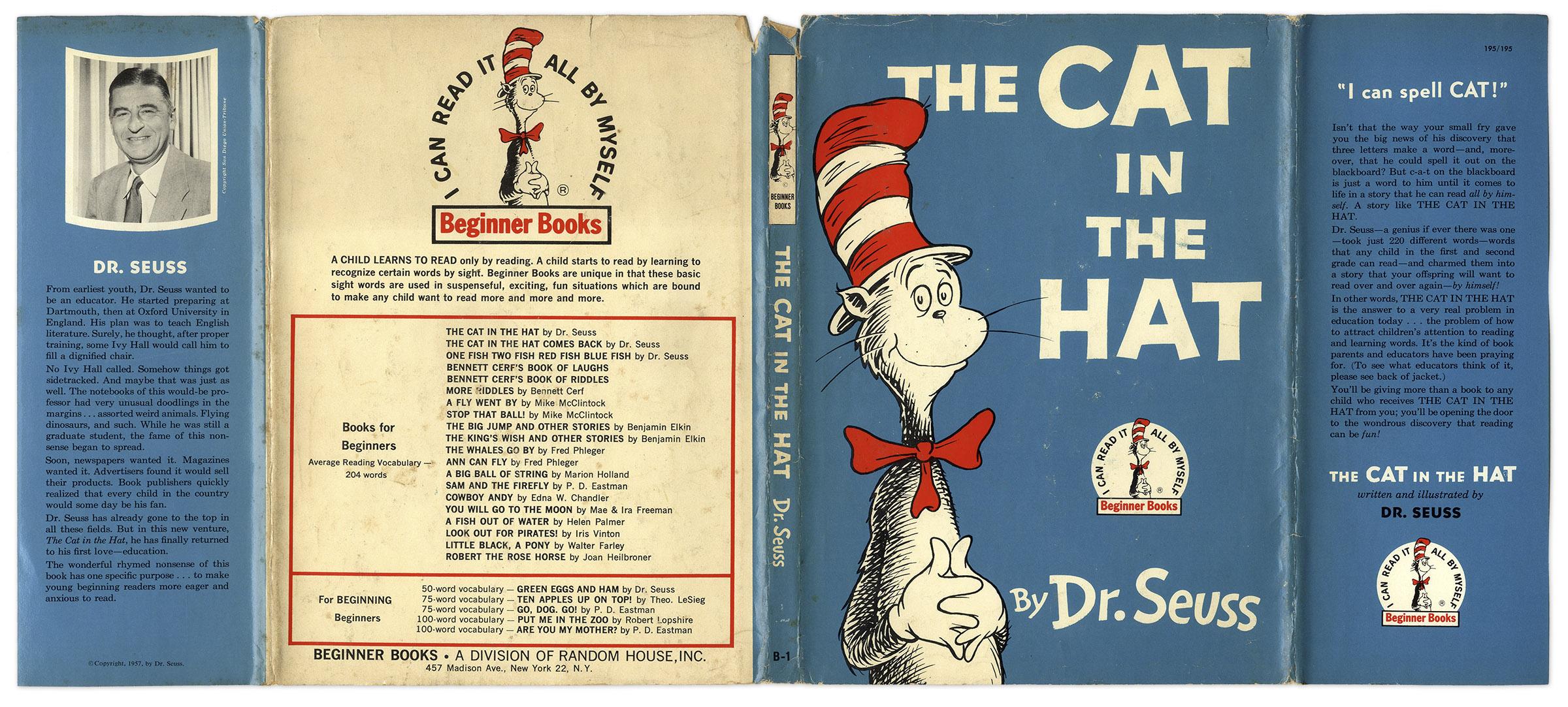 lot detail dr seuss u0027 u0027the cat in the hat u0027 u0027 early 1957 edition