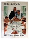 Norman Rockwell Wartime Poster -- Freedom From Want