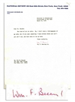 William F. Buckley Jr. Typed Letter Signed on National Review Letterhead