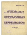 1896 Letter Regarding Presidential Succession in the Case of Abraham Lincoln