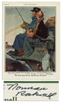 Norman Rockwell Signed Print of The Christmas Coach