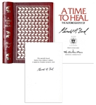 Gerald Fords Memoir A Time To Heal Signed