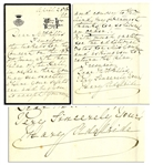 Mary Adelaide 1890 Autograph Letter Signed -- Mother of Queen Mary
