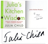 Julia Child Signed First Edition of Julias Kitchen Wisdom
