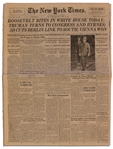U.S. Prepares to Pay Last Respects to FDR in The New York Times From 14 April 1945 -- ...the world...joined with...Americans to mourn the death of Mr. Roosevelt...