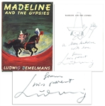 Madeline and the Gypsies First Printing Signed With Drawing of Madeline -- Scarce Piece by Author Ludwig Bemelmans