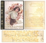 Howard Chandler Christy Signed First Edition of The Girl I Loved -- Featuring His Illustrations