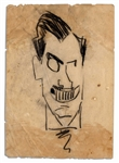 Enrico Caruso Hand-Drawn Sketch