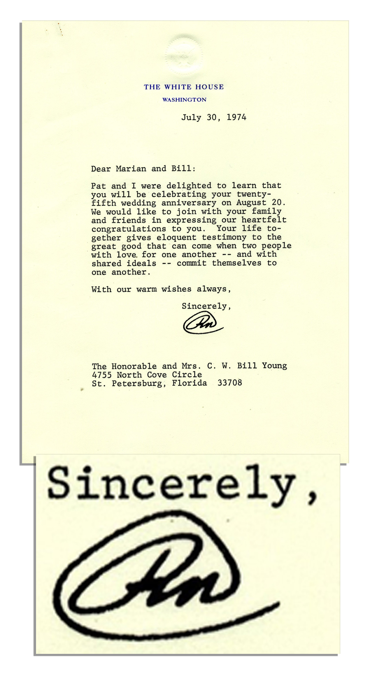 Richard Nixon Resignation Letter Heartpulsar
