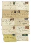 George Custer Lot of 10 Signed Envelopes